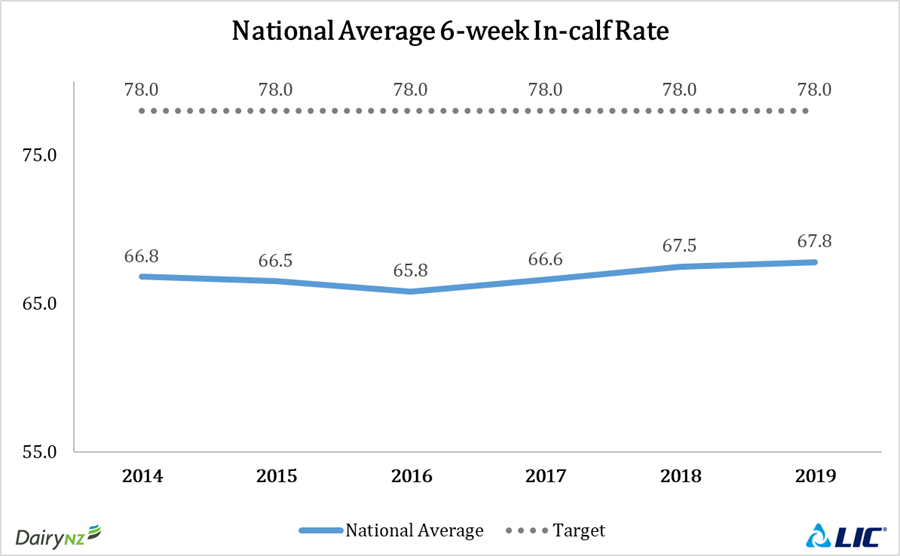 National average 6-week in-calf rate