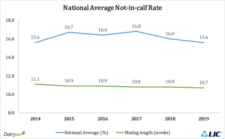 National average not-in-calf rate