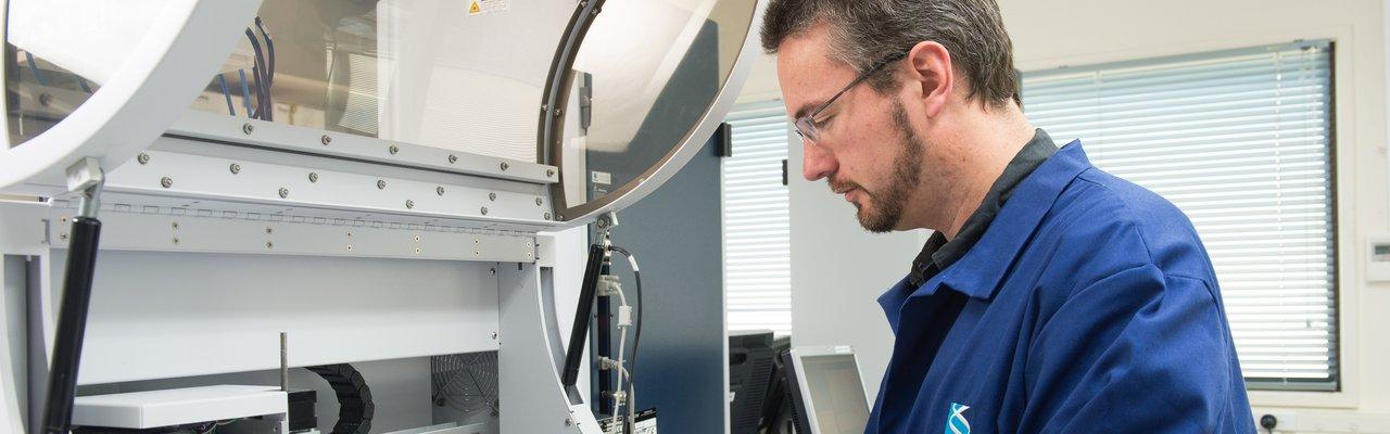 Man in GeneMark Lab