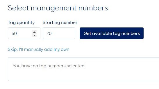 Select available cow numbers