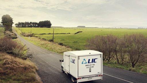 Herd test truck far away